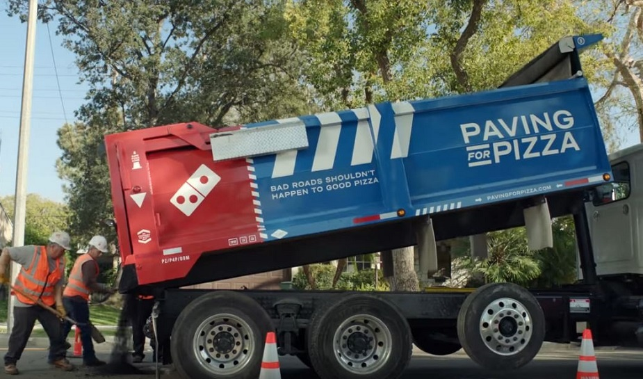 Domino's Paving for Pizza 1