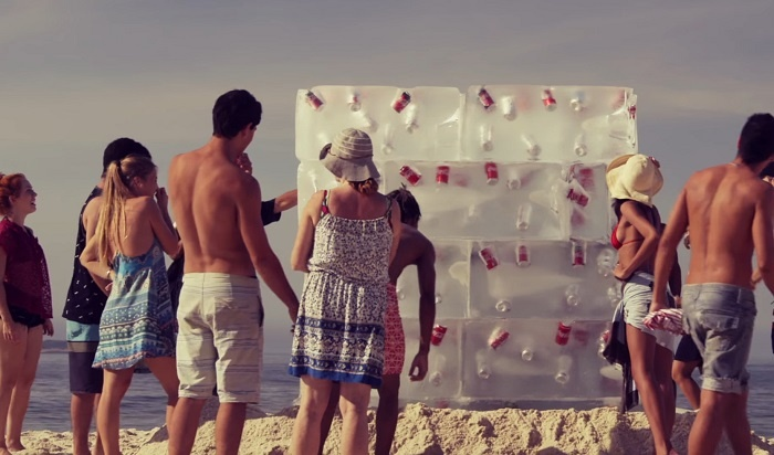 Coca-Cola's campaign excites dehydrated beachgoers