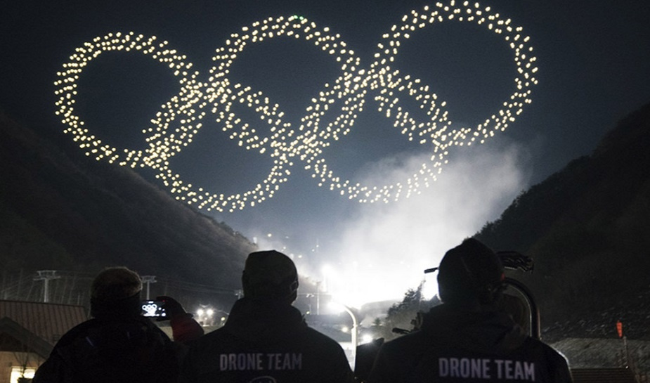 Intel Light Drone Show - Winter Olympics 5